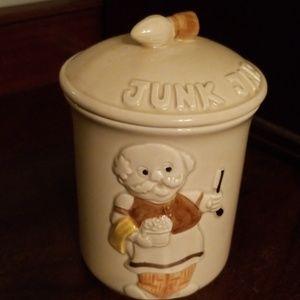 Vintage 1978 Enesco Junk Jar